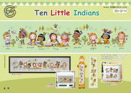 Borduurpakket Ten Little Indians - The Stitch Company    tsck-sog114