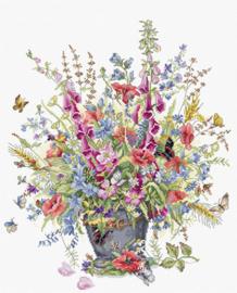 Borduurpakket June Bouquet - Luca-S  ls-b7003