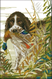 Cross Stitch / The hunting dog