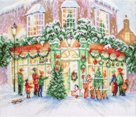 Borduurpakket Christmas Shop - Leti Stitch    leti-0914