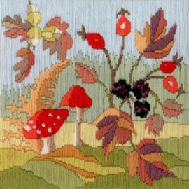 Borduurpakket Rose Swalwell - Long Stitch Seasons - Autumn - Bothy Threads    bt-lss03