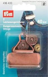 Prym Gespen voor Tuinbroeken  Oudkoper 40 Mm  416 433