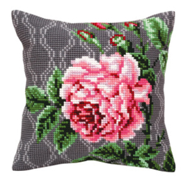 Kussen borduurpakket Tender Rose - Collection d'Art    cda-5342