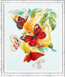 Borduurpakket Butterflies and Pears - Chudo Igla    ci-130-051
