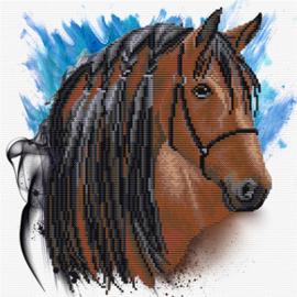 Voorbedrukt borduurpakket Stallion Groom - Needleart World    nw-nc450-039