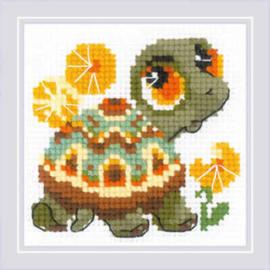 Borduurpakket Little Turtle - RIOLIS    ri-1795