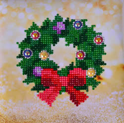 Diamond Dotz Christmas Wreath Picture - Needleart World    nw-dd02-037