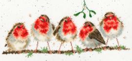Borduurpakket Hannah Dale - Rockin' Robins - Bothy Threads    bt-xhd69