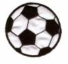 HKM Mode Applic. Voetbal zwart 4,5mm