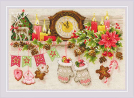 Borduurpakket Christmas Shelf - RIOLIS    ri-1903