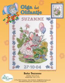 Borduurpakket Baby Suzanne - The Stitch Company    tsck-1401e