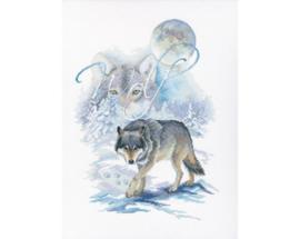 Borduurpakket Wolf - RTO    rto-m00782