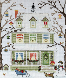 Borduurpakket New England Homes - Winter - Bothy Threads    bt-xss04