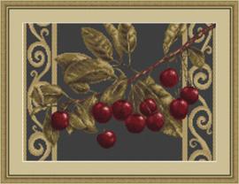 Borduurpakket Branch with cherries - Luca-S    ls-b281
