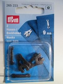 Prym Broek en Rokhaken Zwart 9 mm 265 223