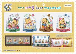 Borduurpatroon Bear Waterball - Soda Stitch    so-g157