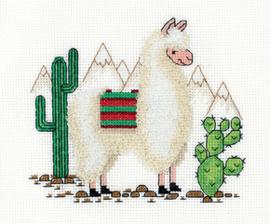 Borduurpakket Llama - PANNA    pan-08-0371