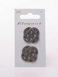 Knopen Elegant - Zilver / 669
