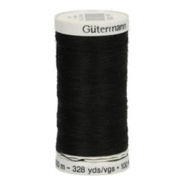 Gutermann naaigaren cotton 30 / 300 meter  1005 / zwart