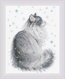 Borduurpakket Snowy Meow - RIOLIS    ri-1912