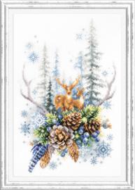 Borduurpakket Winter Forest Spirit - Chudo Igla    ci-200-017