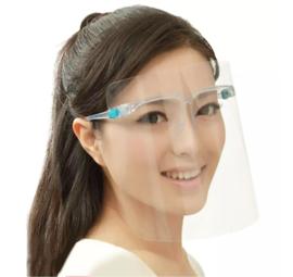 Shield with Glasses plastic / anti spat scherm / gezichtsmasker