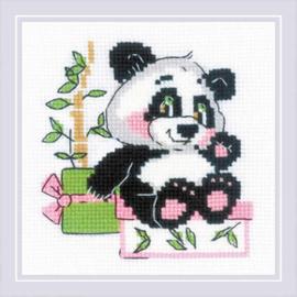 Borduurpakket Panda Gift - RIOLIS    ri-1883