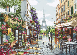 Borduurpakket Paris in Flowers - Luca-S    ls-b2365