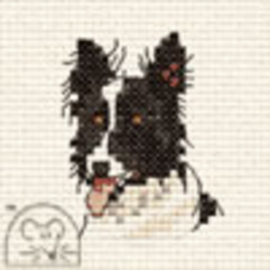 Borduurpakket Border Collie - Mouseloft    ml-00g-101