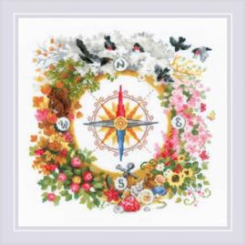 Borduurpakket Compass - RIOLIS    ri-1881