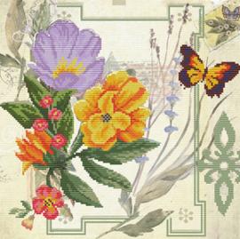 Voorbedrukt borduurpakket Peony Bouquet - Needleart World    nw-nc650-032