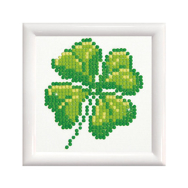Diamond Dotz Four Leaf Clover with Frame - Needleart World    nw-dd01-017f