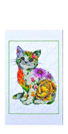 Diamond Dotz Flower Puss Scroll - Needleart World    nw-dd17-005
