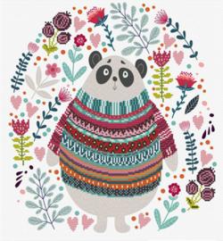 Voorbedrukt borduurpakket Panda Couture - Needleart World    nw-nc650-036