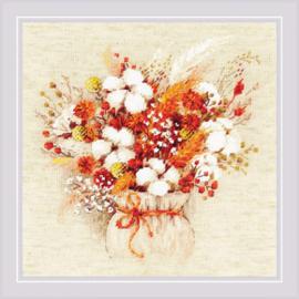 Borduurpakket Bouquet with Lagurus and Cotton - RIOLIS    ri-1913