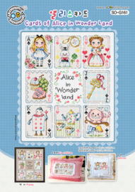 Borduurpatroon Cards of Alice in Wonder Land - Soda Stitch    so-g161