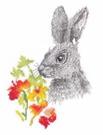 Borduurpakket Fairy Tales of the Old Forest - Rabbit - RTO    rto-m70030