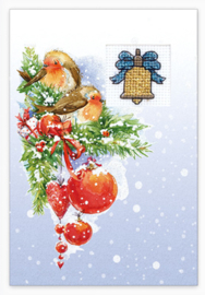 Borduurpakket Postcard - Christmas - Luca-S    ls-sp096
