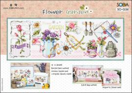 Borduurpakket Flower Garden - The Stitch Company    tsck-sog034