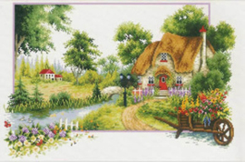 Voorbedrukt borduurpakket Summer Cottage - Needleart World    nw-nc640-046