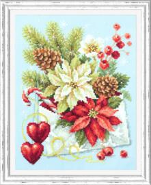 Borduurpakket Merry Christmas! - Chudo Igla    ci-100-241
