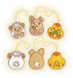 Borduurpakket Easter Bunny and Friends - RIOLIS    ri-1860