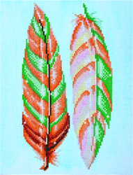 Diamond Dotz Feather Whispers - Needleart World    nw-dd05-024
