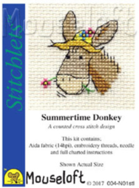 Borduurpakket Summertime Donkey - Mouseloft    ml-004-n01