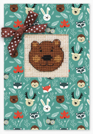 Borduurpakket Postcard Bear - Luca-S    ls-sp064