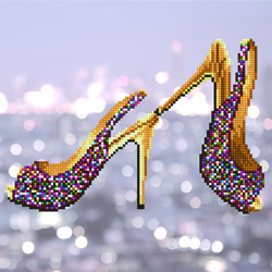 Diamond Art High Heels - Leisure Arts    la-da02-49302