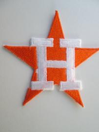 Applicatie Oranje Ster met witte H