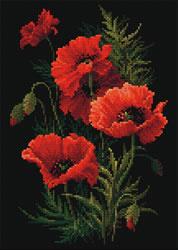 Diamond Mosaic Poppies - RIOLIS    ri-am0007