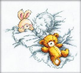 Borduurpakket Baby Sleeps - RTO    rto-m00156