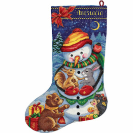 Borduurpakket Snowman Stocking - PANNA    pan-7165-pr